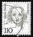 Stamps Germany -  Marlene Dietrich (1901-1992), actriz y cantora