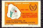 Stamps of the world : Uruguay :  DECENIO DE LAS NACIONES UNIDAS PARA EL IMPEDIDO 1983-1992