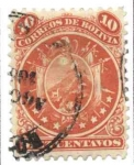 Stamps of the world : Bolivia :  Escudo con 9 estrellas