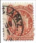 Stamps of the world : Bolivia :  Escudo con 11 estrellas