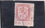 Stamps : Europe : Finland :  León rampante