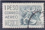 Stamps Mexico -  Puebla-Danza de la Media Luna