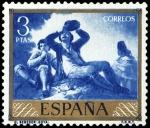 Sellos de Europa - España -  ESPAÑA SEGUNDO CENTENARIO NUEVO Nº 1219 ** 3P AZUL GOYA