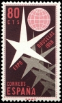 Stamps Spain -  ESPAÑA SEGUNDO CENTENARIO NUEVO Nº 1220 ** 80C ROJO CASTAÑO BRUSELAS