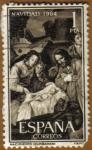 Stamps Spain -  NAVIDAD - Nacimiento de Zurbaran
