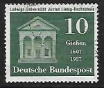 Stamps Germany -  350 años de la universidad de Giessen
