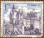 Stamps of the world : Spain :  ALCAZAR de Segovia