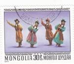 Sellos del Mundo : Asia : Mongolia : DANZA POPULAR