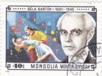 Sellos de Asia - Mongolia -  BÉLA BARTÓK- compositor hungaro