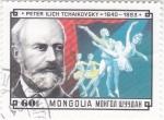 Sellos de Asia - Mongolia -  PETER ILICH TCHAIKOSVSKY