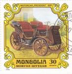 Sellos de Asia - Mongolia -  COCHE DE EPOCA- Motocar President 1897