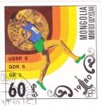 Sellos del Mundo : Asia : Mongolia : OLIMPIADA DE MOSCU-80 atletismo
