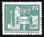Sellos de Europa - Alemania -  Plaza de Alexander Platz en Berlin