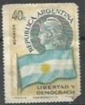 Sellos de America - Argentina -  Transmición del mando presiencial
