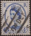 Sellos de Europa - Reino Unido -  Elisasbeth II  1958  4 penique