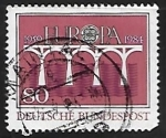 Stamps Germany -  Europa - puente