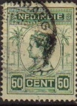Stamps Netherlands -  HOLANDA INDIAS Netherlands Indies 1914 Scott 131 Sello Reina Guillermina Wilkelmina usado
