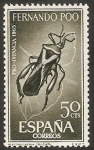 Stamps Equatorial Guinea -  Fernando Poo - 242 - Plectroc nemia cruciata