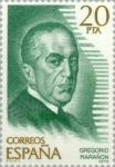 sellos de Europa - España -  PERSONAJES FAMOSOS GREGORIO MARAÑON