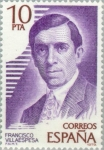Stamps Spain -  PERSONAJES FAMOSOS FRANCISCO VILLAESPESA