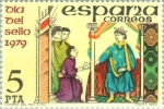 Stamps Spain -  DIA DEL SELLO-1979