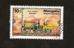 Stamps Asia - Mongolia -  Locomotora Inglesa