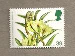 Stamps United Kingdom -  Orquideas