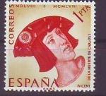Sellos de Europa - España -  ESPAÑA SEGUNDO CENTENARIO NUEVO Nº 1228 ** 1P ROJO Y AMARILLO CARLOS I