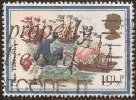 Sellos de Europa - Reino Unido -  Navidad. Avistando tres Barcos  1982  19 1/2 penique