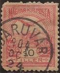 Sellos de Europa - Hungría -  Turul volando sobre la Corona de San Esteban  1900  10 filler
