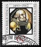 Stamps Germany -  Götz von Berlichingen (1480-1562)
