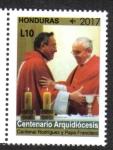 sello : America : Honduras : 100 Años y Un Futuro Arquidiócesis de Tegucigalpa 1916-2016