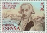 Stamps Spain -  DEFENSA NAVAL DE TENERIFE Gral. Antonio Gutierrez
