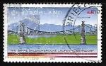 Stamps Germany -  Puente sobre el rio Salzach