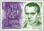 Stamps Spain -  EUROPA-1979 PERSONAJES Federico García Lorca
