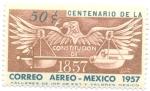 sellos de America - México -  Centenario de la Constitucion de 1857