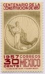 Sellos del Mundo : America : México : Centenario de la Constitucion de 1857