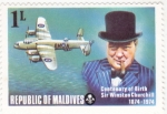 Sellos de Asia - Maldivas -  centenario nacimiento Winston Churchill