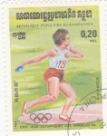 Stamps : Asia : Cambodia :  Lanzamiento de disco