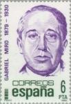 Stamps Spain -  PERSONAJES FAMOSOS GABRIEL MIRO