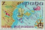 Stamps Spain -  ESPAÑA INSULAR (BALEARES) Atlas Diego Homem