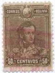 Sellos de America - Bolivia -  Mariscal Sucre