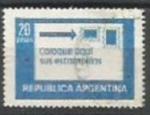 Sellos de America - Argentina -  INTERCAMBIO SCOTT N°1201 (cotiz 0.20.USD)