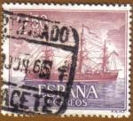 Sellos de Europa - España -  Homenaje Marina Española - Fragata 'NUMANCIA'