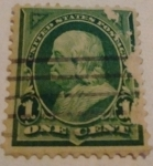 Stamps : America : United_States :  franklin