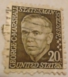 Stamps United States -  George C Marshall
