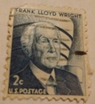 Stamps United States -  Frank Lloyd Wright