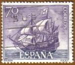 Stamps Spain -  Homenaje Marina Española - Galeon
