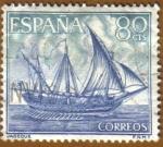 Sellos del Mundo : Europa : España :  Homenaje Marina Española - Jabeque