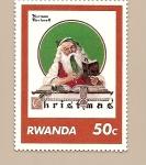 Stamps Africa - Rwanda -  Navidad - Los Christmas de Norman Rockwell